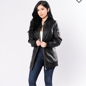 Fashion Nova faux leather jacket